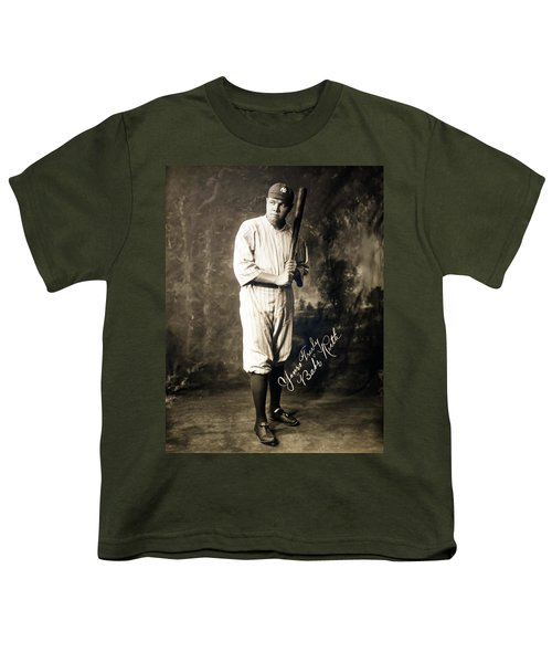 Babe Ruth 1920 Youth T-Shirt by Mountain Dreams