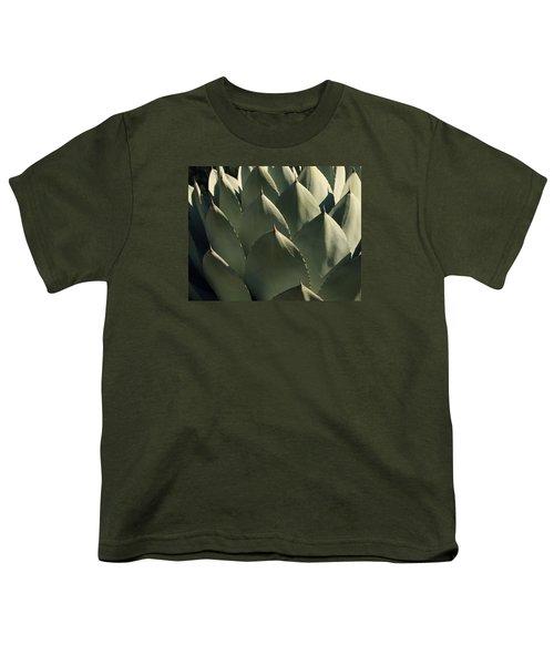 Blue Aloe Youth T-Shirt by Ellen Henneke