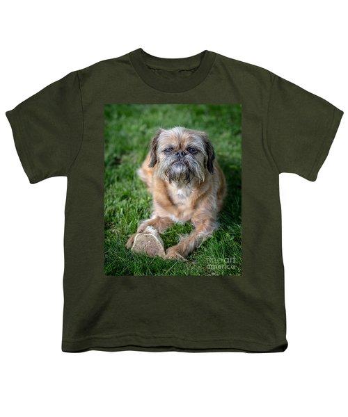 Brussels Griffon Youth T-Shirt by Edward Fielding