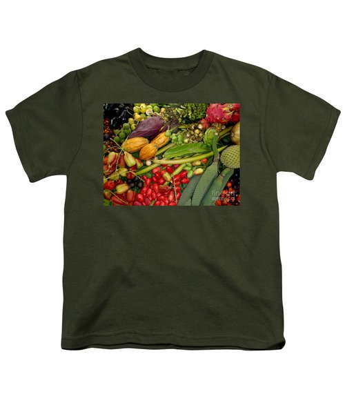 Exotic Fruits Youth T-Shirt by Carey Chen