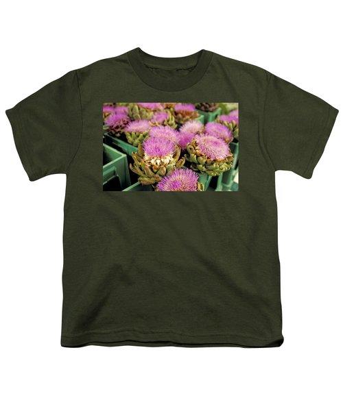 Germany Aachen Munsterplatz Artichoke Flowers Youth T-Shirt by Anonymous