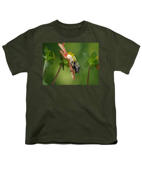 Goldenrod Spider Youth T-Shirt by James Peterson