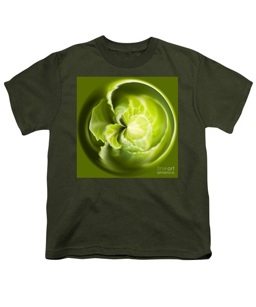 Green Cabbage Orb Youth T-Shirt by Anne Gilbert