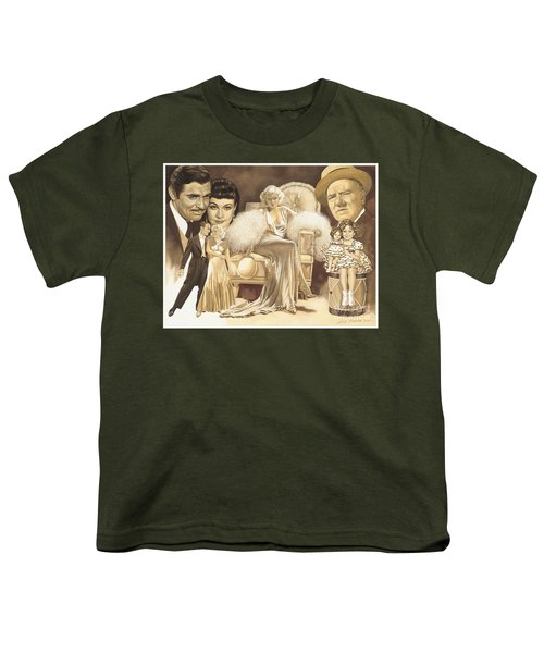 Hollywoods Golden Era Youth T-Shirt by Dick Bobnick