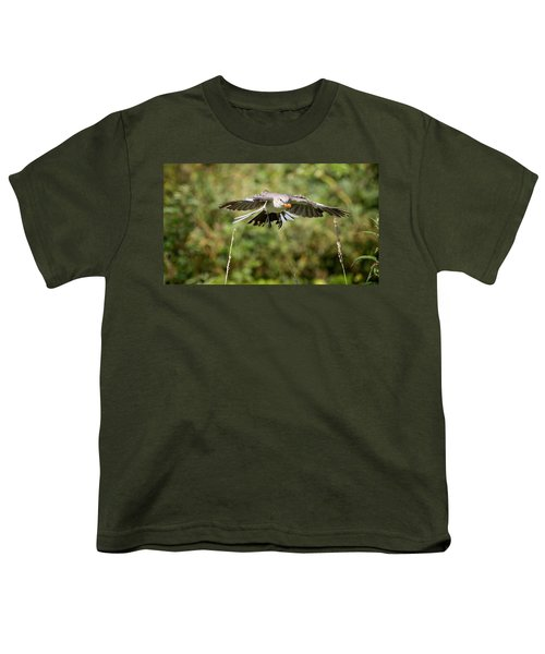 Mockingbird In Flight Youth T-Shirt by Bill Wakeley