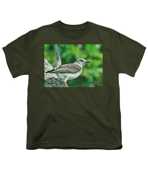 Mockingbird Pose Youth T-Shirt by Deborah Benoit