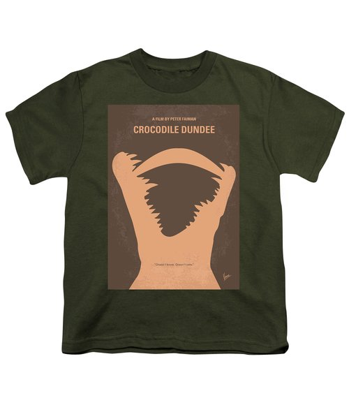 No210 My Crocodile Dundee Minimal Movie Poster Youth T-Shirt by Chungkong Art