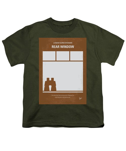 No238 My Rear Window Minimal Movie Poster Youth T-Shirt by Chungkong Art