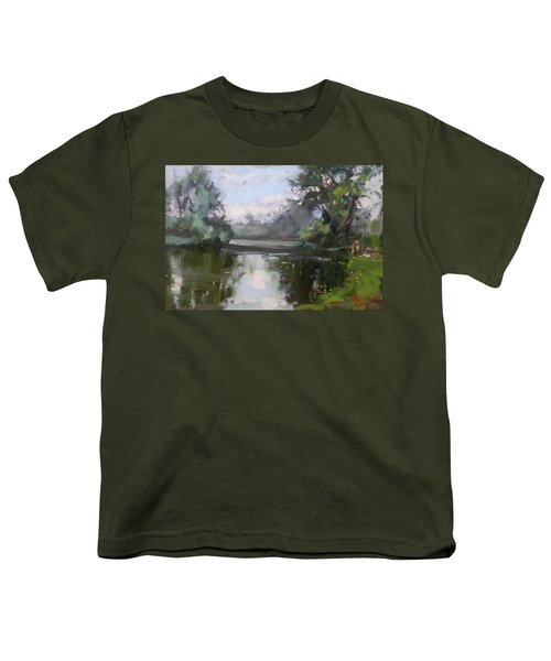 Outdoors At Hyde Park Youth T-Shirt by Ylli Haruni