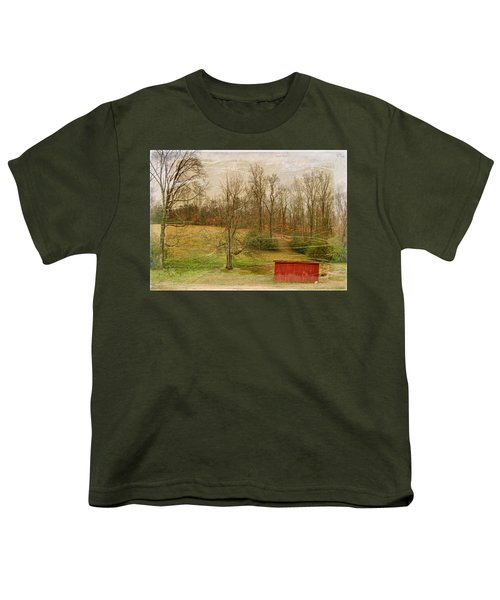 Red Shed Youth T-Shirt by Paulette B Wright