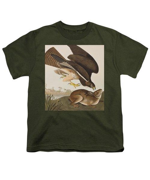 The Common Buzzard Youth T-Shirt by John James Audubon
