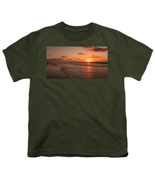 Wildwood Beach Sunrise II Youth T-Shirt by David Dehner