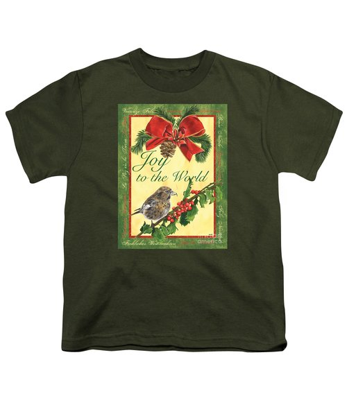 Xmas Around The World 2 Youth T-Shirt by Debbie DeWitt