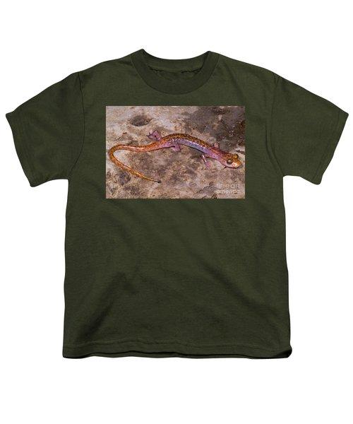 Cave Salamander Youth T-Shirt by Dante Fenolio