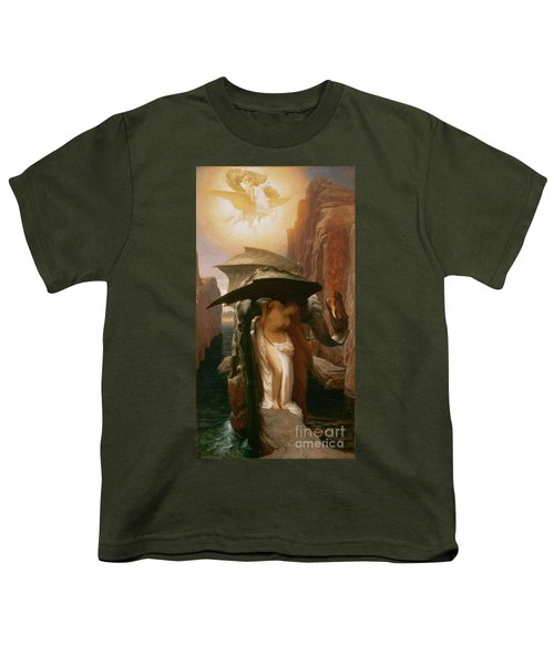 Perseus And Andromeda Youth T-Shirt by Frederic Leighton