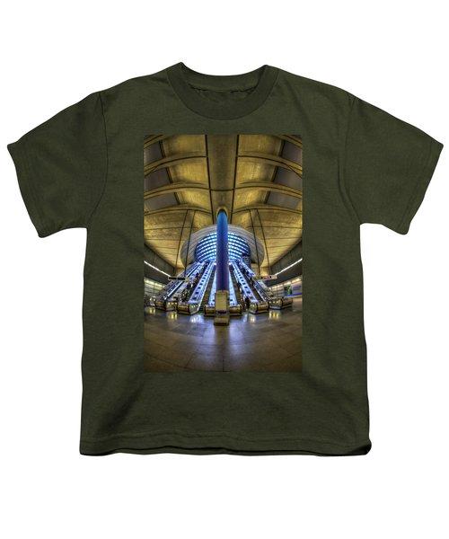 Alien Landing Youth T-Shirt by Evelina Kremsdorf