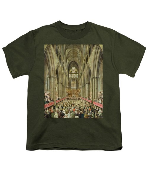 An Interior View Of Westminster Abbey On The Commemoration Of Handel's Centenary Youth T-Shirt by Edward Edwards
