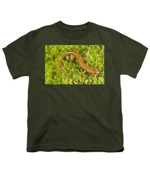 Longtail Salamander Eurycea Longicauda Youth T-Shirt by Jack Goldfarb