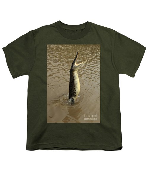 Salt Water Crocodile Youth T-Shirt by Bob Christopher