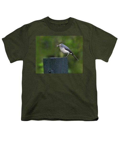 White-eyed Slaty Flycatcher Youth T-Shirt by Tony Beck
