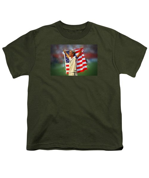 Carli Lloyd Youth T-Shirt by Semih Yurdabak