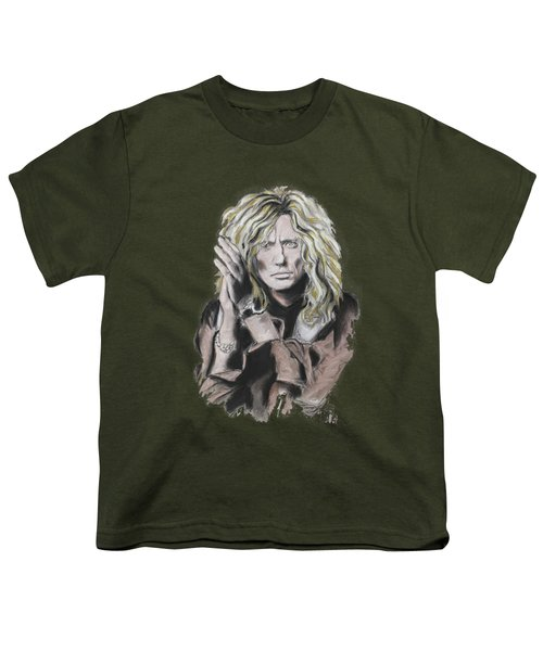 David Coverdale Youth T-Shirt by Melanie D