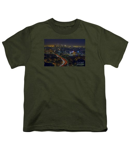 Los Angeles Sunrise Youth T-Shirt by Art K