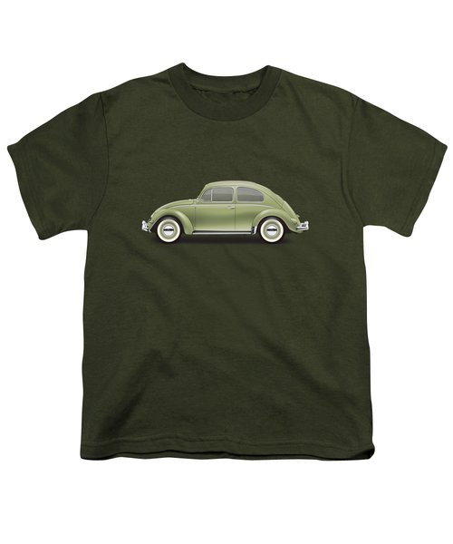 1957 Volkswagen Deluxe Sedan - Diamond Green Youth T-Shirt by Ed Jackson