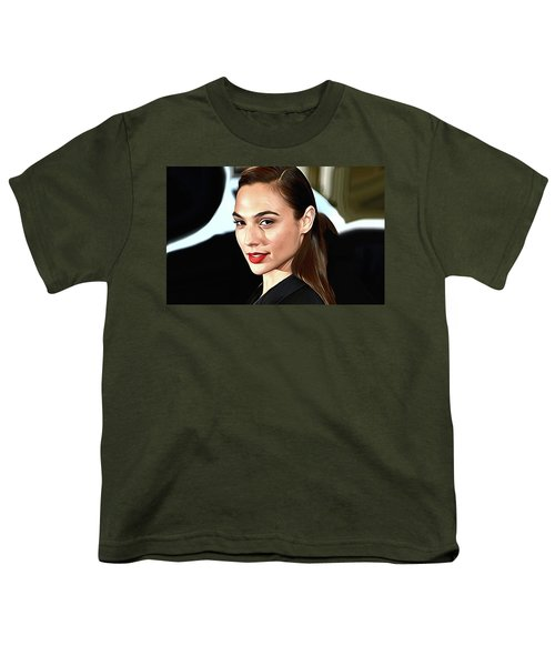 Gal Gadot Print Youth T-Shirt by Best Actors