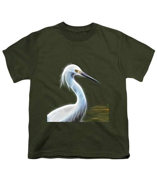 Snow Egret Youth T-Shirt by Shane Bechler