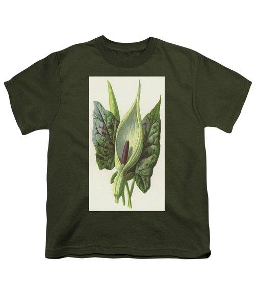 Arum, Cuckoo Pint Youth T-Shirt by Frederick Edward Hulme