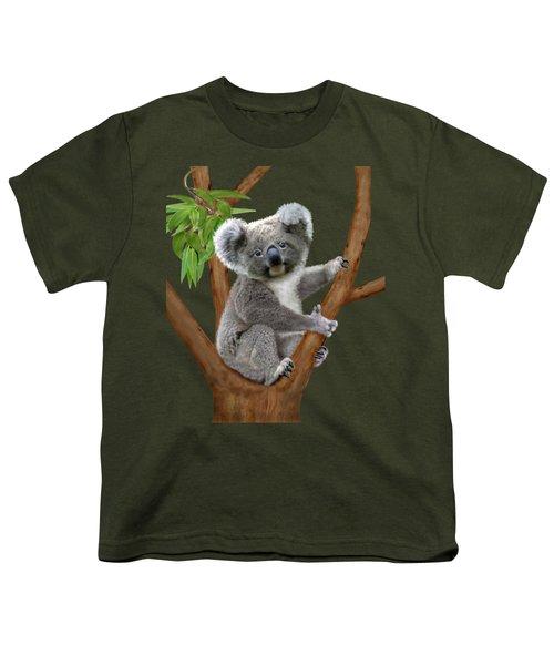 Blue-eyed Baby Koala Youth T-Shirt by Glenn Holbrook