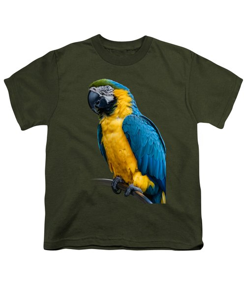 Blue Yellow Macaw No.1 Youth T-Shirt by Mark Myhaver