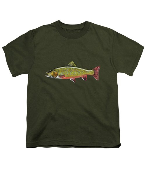 Brook Trout Youth T-Shirt by Serge Averbukh