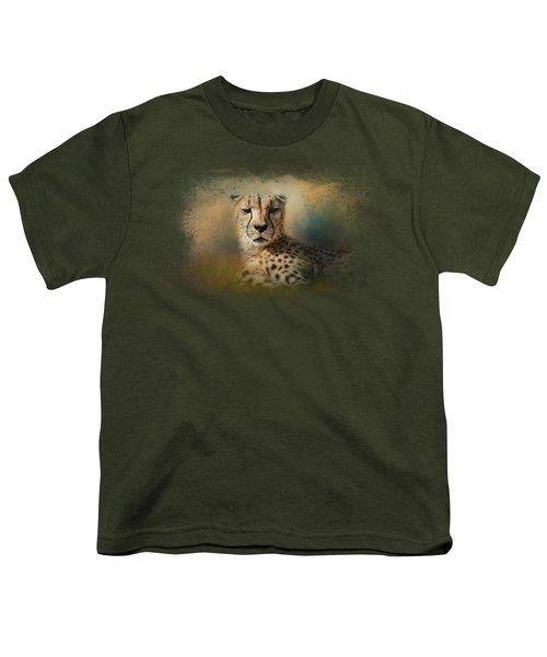 Cheetah Enjoying A Summer Day Youth T-Shirt by Jai Johnson