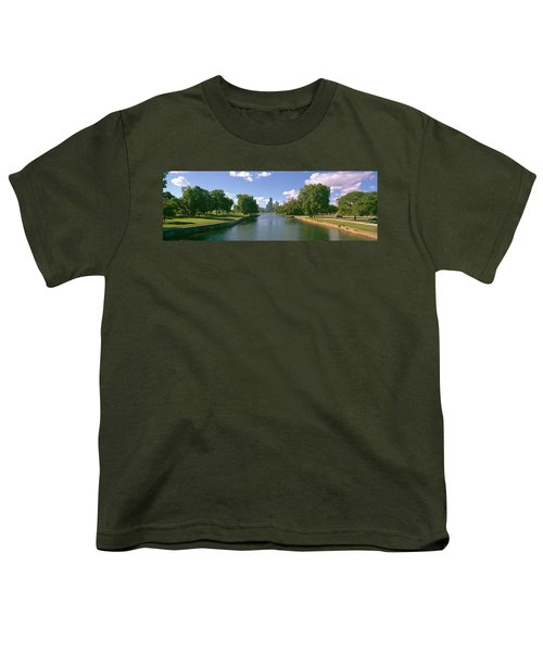 Chicago From Lincoln Park, Illinois Youth T-Shirt by Panoramic Images
