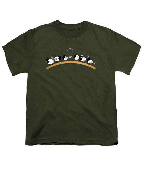 Chickadees Youth T-Shirt by Matt Mawson