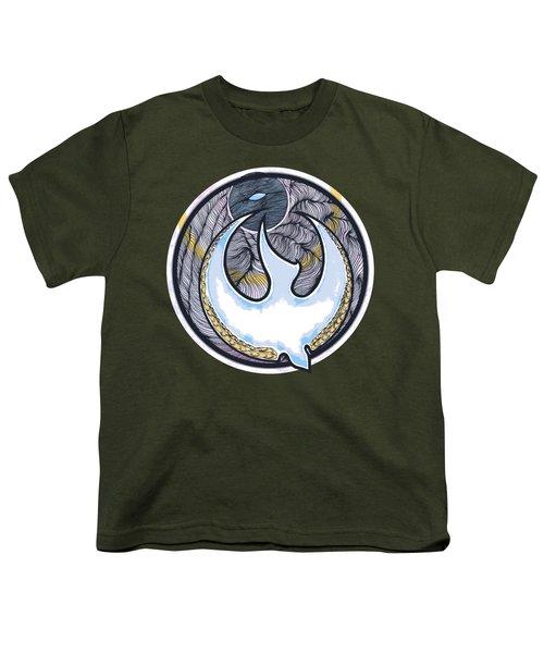 Descending Dove Youth T-Shirt by Daniel P Cronin
