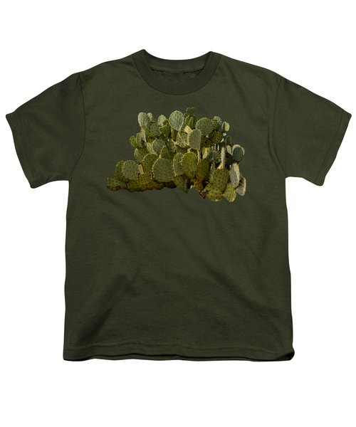 Desert Prickly-pear No6 Youth T-Shirt by Mark Myhaver