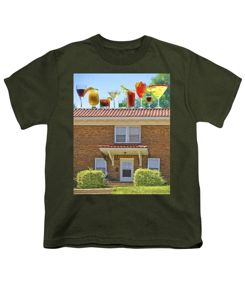 Drinks On The House Youth T-Shirt by Nikolyn McDonald