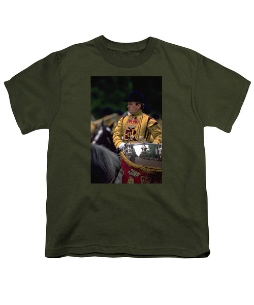 Youth T-Shirt featuring the photograph Drum Horse At Trooping The Colour by Travel Pics