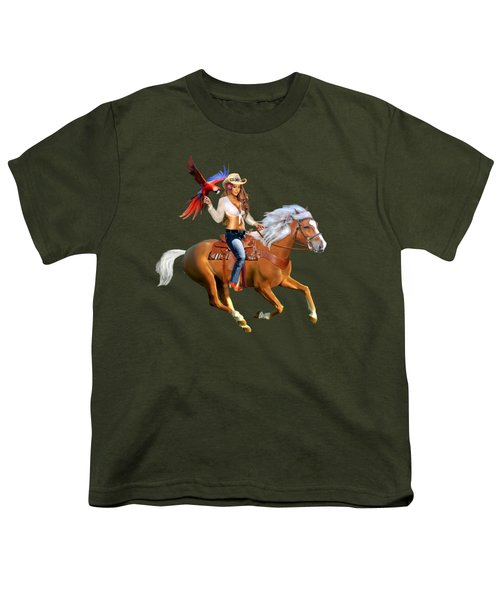 Enchanted Jungle Rider Youth T-Shirt by Glenn Holbrook