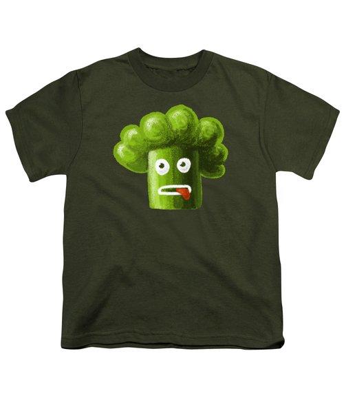 Funny Broccoli Youth T-Shirt by Boriana Giormova