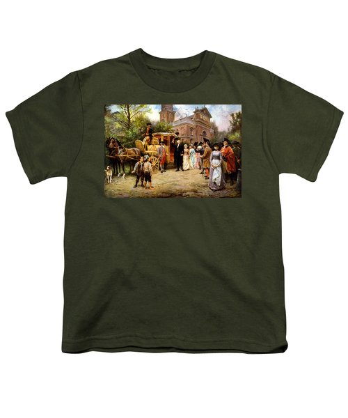 George Washington Arriving At Christ Church Youth T-Shirt by War Is Hell Store