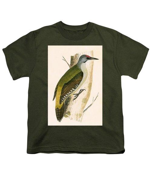 Grey Woodpecker Youth T-Shirt by English School
