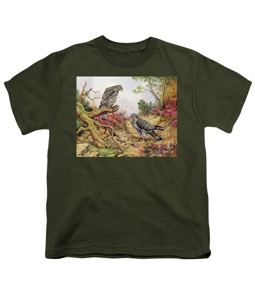 Honey Buzzards Youth T-Shirt by Carl Donner