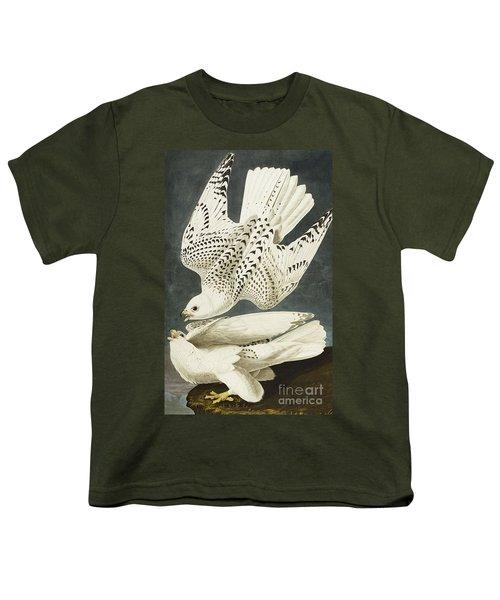 Iceland Or Jer Falcon Youth T-Shirt by John James Audubon