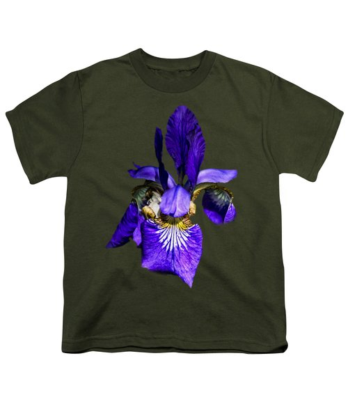 Iris Versicolor Youth T-Shirt by Mark Myhaver
