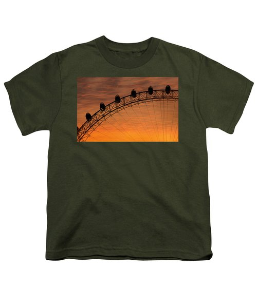 London Eye Sunset Youth T-Shirt by Martin Newman