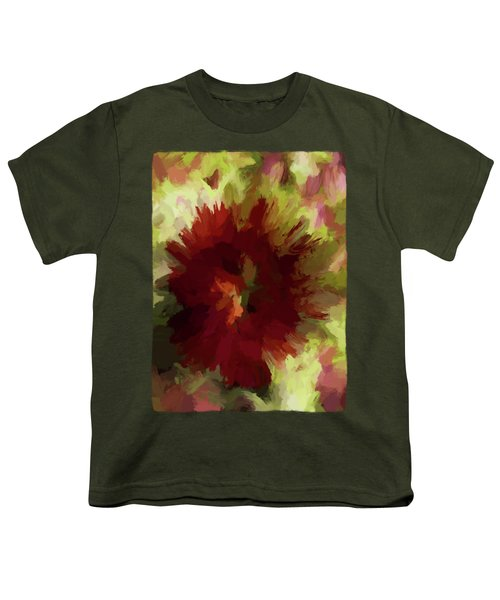 Maroon Flower 4 Youth T-Shirt by Jackie VanO